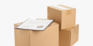 Packing boxes with inventory list
