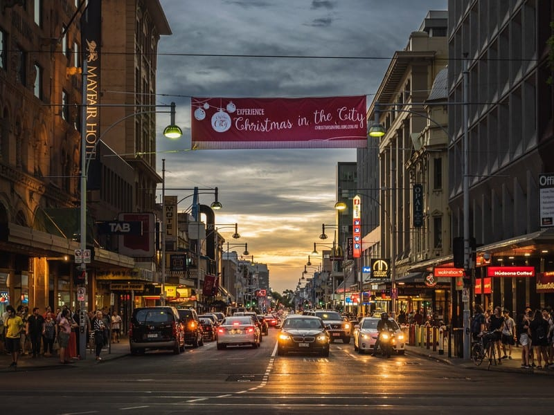 Adelaide cityscape. Moving to Aldeiade. Best places for professionals.