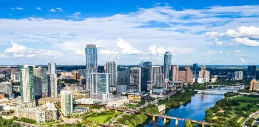 Austin, Texas cityscape - International removals from the UK to Austin, Texas USA