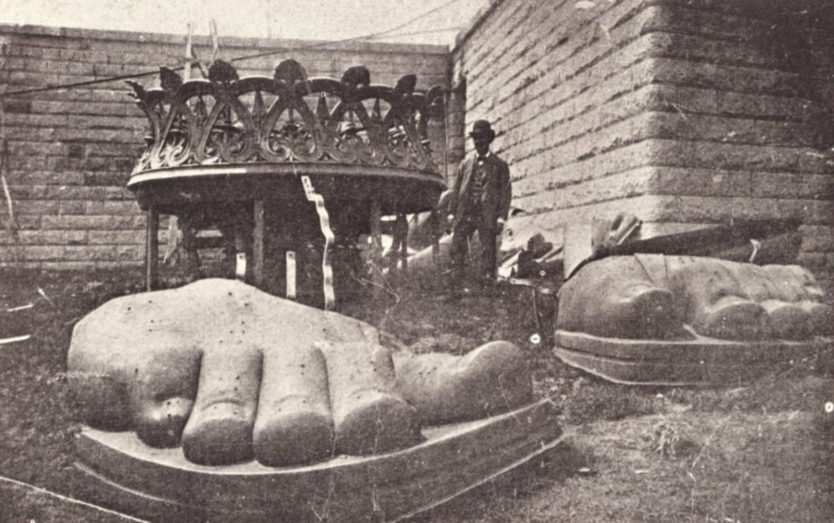 Feet and torch prior to construction