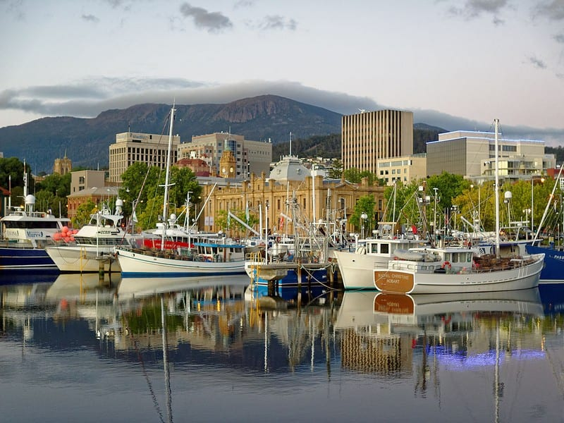 Hobart cityscape. Moving to Hobart. Best places for professionals.