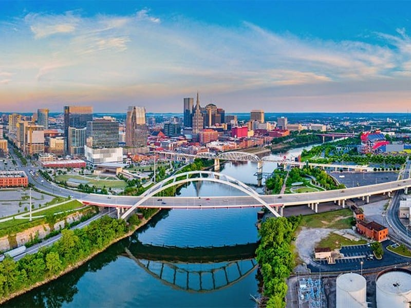 Nashville, Tennessee cityscape - International removals from the UK to Nashville, Tennessee, USA