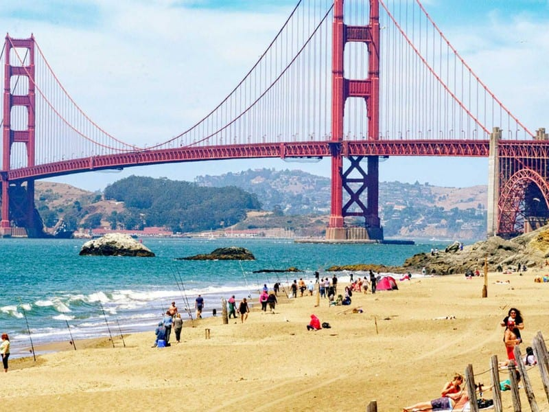San Francisco cityscape - International removals from the UK to San Francisco, USA