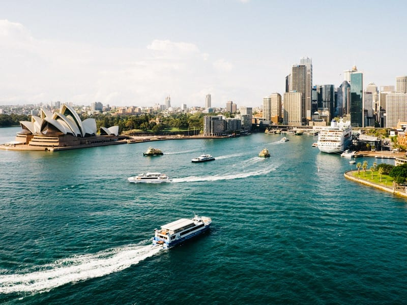 Sydney cityscape. Moving to Syndey. Best places for professionals.