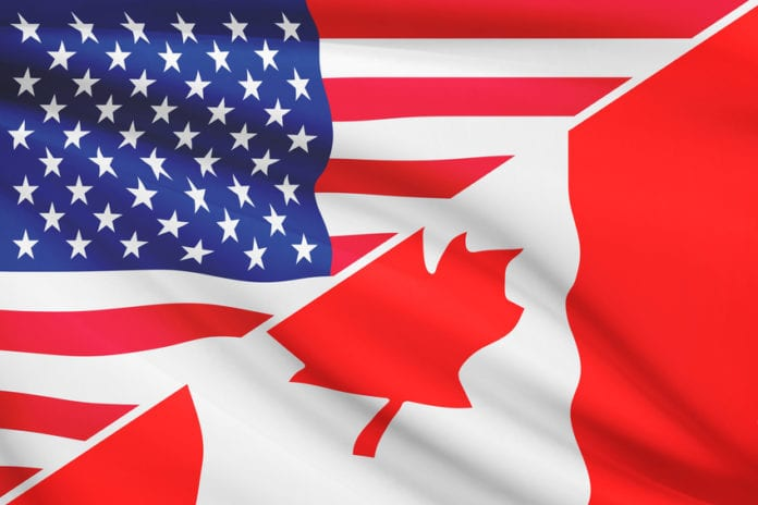 USA and Canada Flags - USA vs Canada