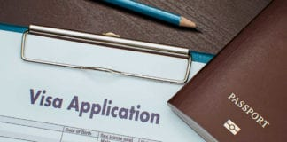 Visa Application form and Passport