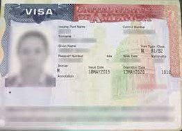 Example of a Visa when Moving to the USA